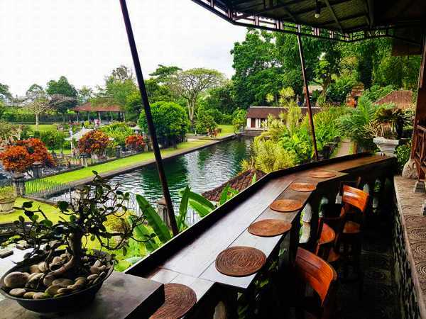 View from the restaurant. Img credit: Tirta Ayu Restaurant