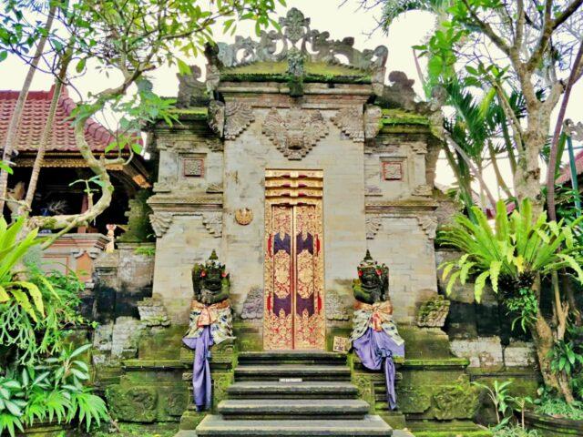 Ubud Palace Balinese entrance gate