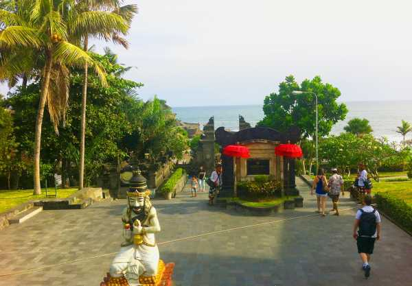 The Entrance to Tanah Lot Temple