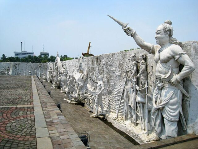Relief of History in Monas National Monument