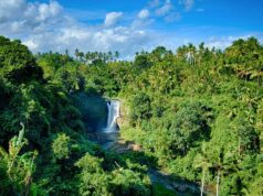 Tegenungan Waterfall from distance