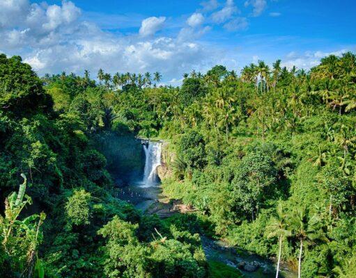 Tegenungan Waterfall from distance