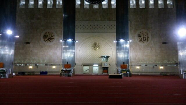 The Main Hall of Istiqlal Mosque.