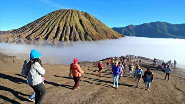 Bromo crater and mount batok