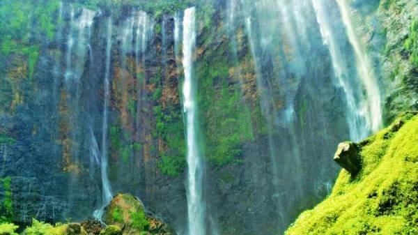 Coban Sewu Waterfall or Tumpak Sewu Waterfall