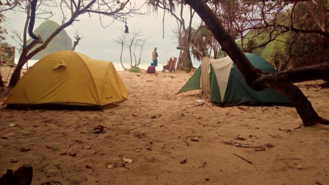 Camping in the beach
