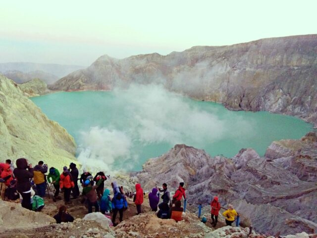 Tourists at Ijen Crater