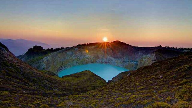 Sunrise At The Top of Kelimutu