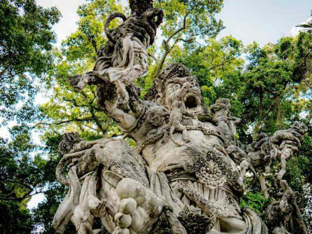 Kumbakarna Statue, Sangeh Monkey Forest