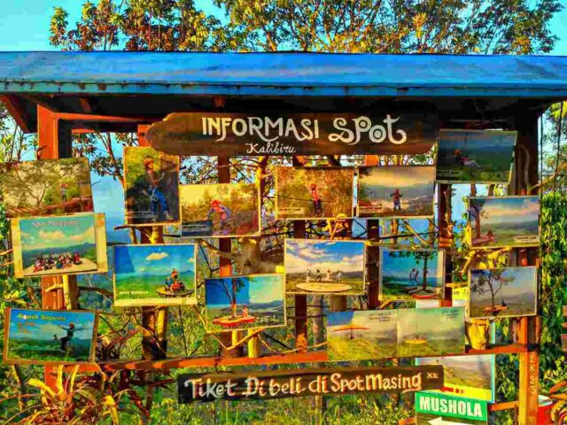 Information wall kalibiru national park