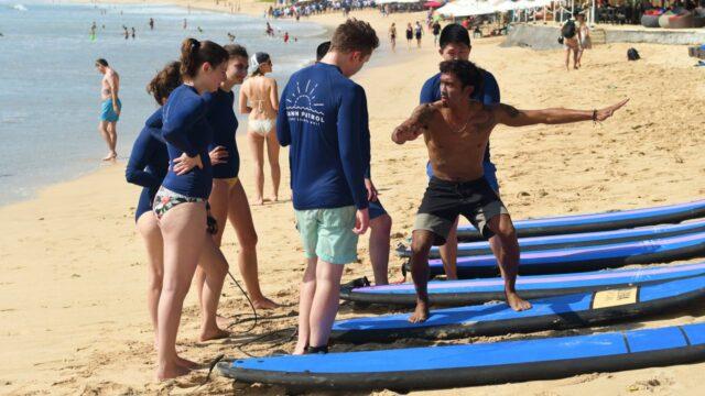 Surfing in balangan