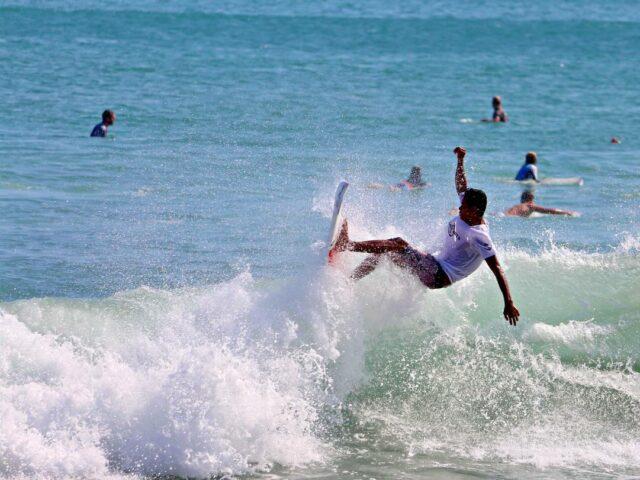 Surfing in Kuta