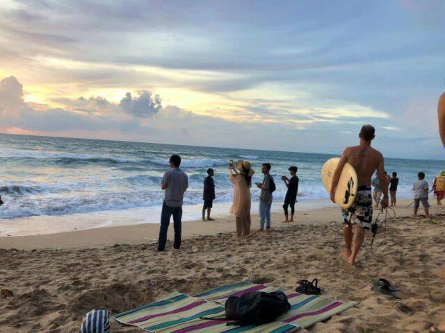 kuta beach sunset