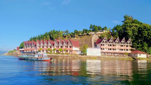 small ferry to samosir island
