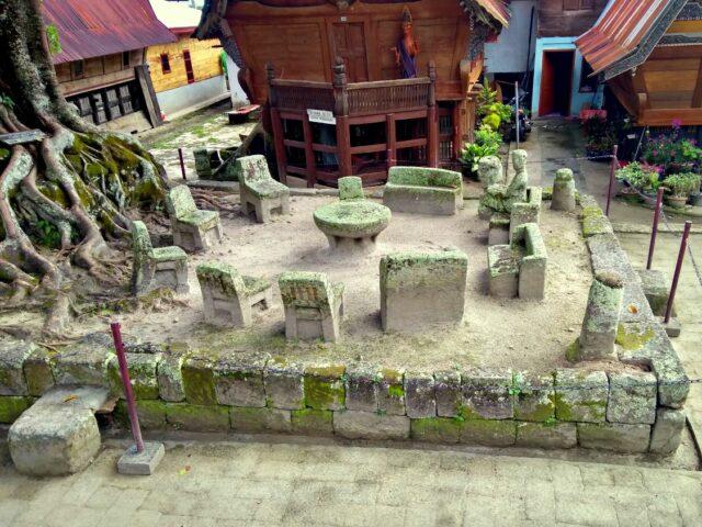 trial stone in huta siallagan village