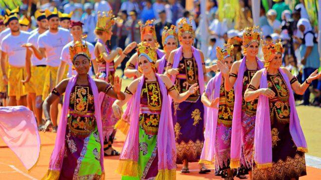 Foreigners at Banyuwangi Ethno Carnival