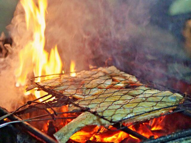 grilled fish dish nakula night market