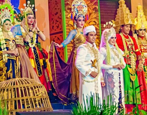 Majapahit international travel fair costume show