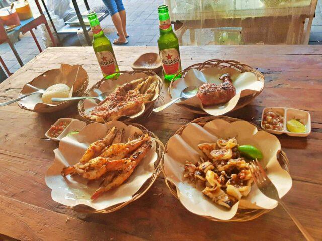 seafood dish in 24/7 warung
