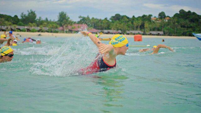 Bintan triathlon open water swimming race