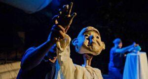 Puppet show performance Ubud Writers Festival