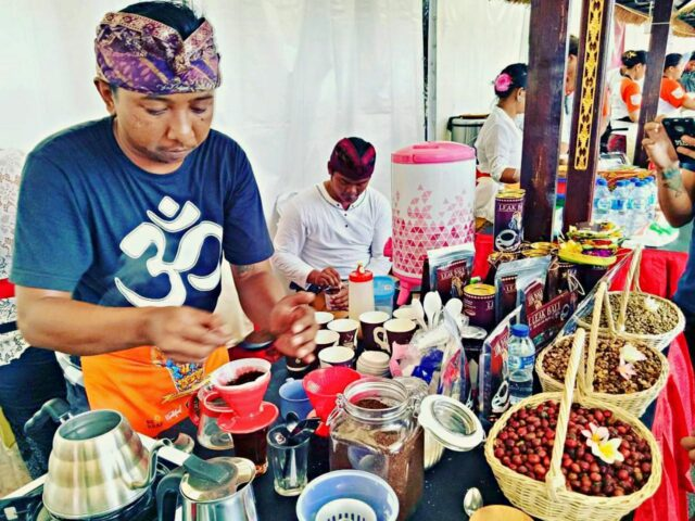 coffee stall in tanah lot arts festival