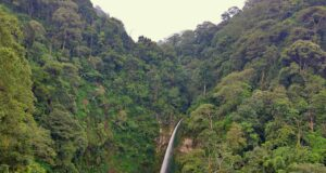 Coban pelangi picturesque landscape