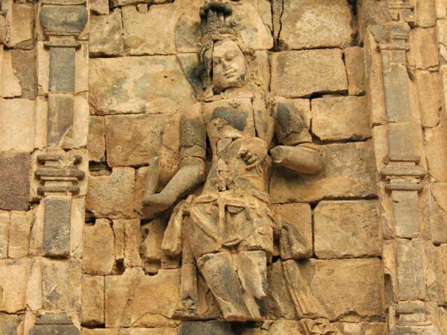 sculpture in the temple wall