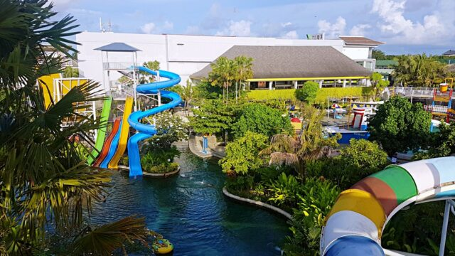 waterpark area and pool