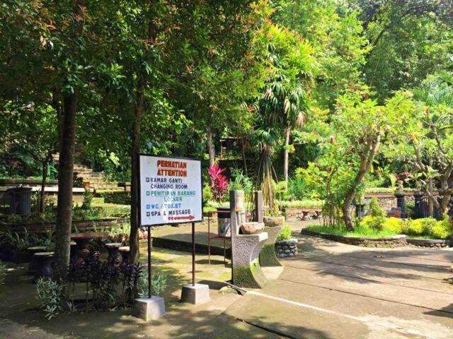 banjar hot springs lush garden