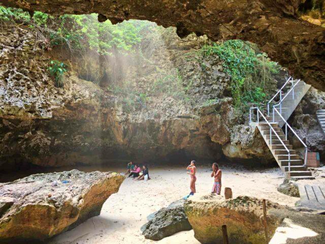 blue point beach cave