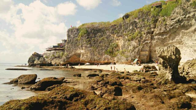 high cliff beach
