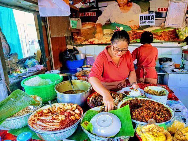Nasi Campur local food