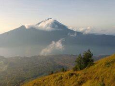 lake batur panorama from Mount Batur