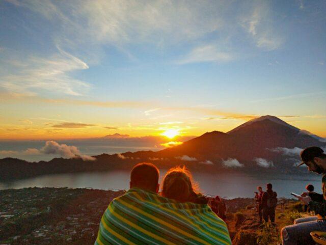 sunrise view in Mount Batur